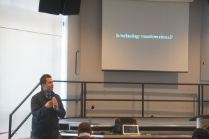 George Couros kicked off EdCamp Toronto with a short welcome.